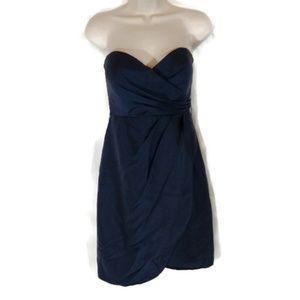 JENNY YOO Dress Strapless Women Size 4 Blue